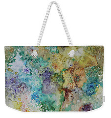 Weekender Tote Bag featuring the painting May Flowers by Joanne Smoley