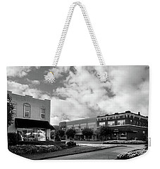 May Morning In Murphy North Carolina In Black And White Weekender Tote Bag