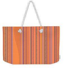 Weekender Tote Bag featuring the digital art May Morning Vertical Stripes by Val Arie