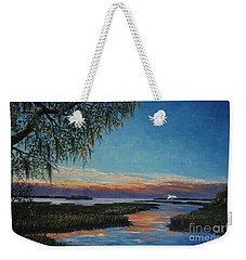 May River Sunset Weekender Tote Bag