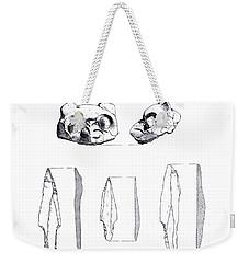 Maya Cat Head And Stone Tools Weekender Tote Bag