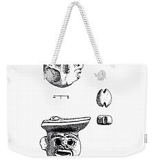 Maya Ceramic Head Weekender Tote Bag