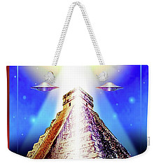 Weekender Tote Bag featuring the painting Mayan  Legend by Hartmut Jager