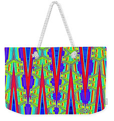 Weekender Tote Bag featuring the digital art Mayan Temple Tapestry by Ann Johndro-Collins