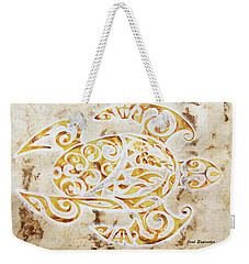 Mayan Turtle Weekender Tote Bag by J- J- Espinoza