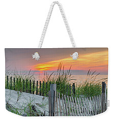 Weekender Tote Bag featuring the photograph Mayflower Beach by Mike Ste Marie
