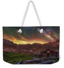 Weekender Tote Bag featuring the photograph Mayflower Milky Way by Darren White