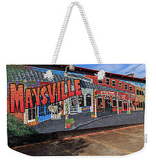 Weekender Tote Bag featuring the photograph Maysville Mural by Doug Camara