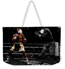 Mayweather And Pacquiao Weekender Tote Bag by Brian Reaves