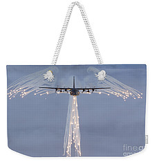 Mc-130h Combat Talon Dropping Flares Weekender Tote Bag
