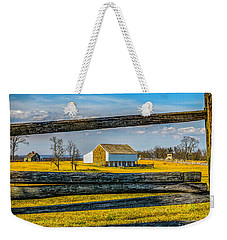 Weekender Tote Bag featuring the photograph Mc Pherson Barn - Gettysburg National Park by Nick Zelinsky