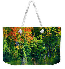 Weekender Tote Bag featuring the photograph Mccarston's Lake by Gary Hall