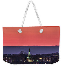 Weekender Tote Bag featuring the photograph Mcdaniel At Sunset by Mark Dodd