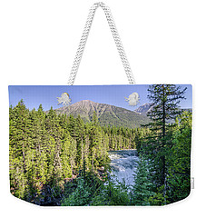 Weekender Tote Bag featuring the photograph Mcdonald Falls by Margaret Pitcher