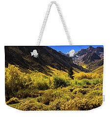 Weekender Tote Bag featuring the photograph Mcgee Creek Alive With Color by John Hight