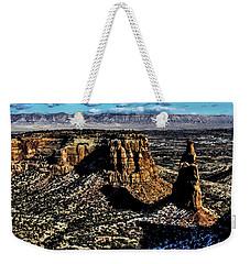 Mcinnis Canyons Tower Weekender Tote Bag by Steven Parker