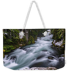 Weekender Tote Bag featuring the photograph Mckenzie River by Cat Connor