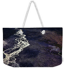 Weekender Tote Bag featuring the photograph Mckinley River From The Air by Rick Berk