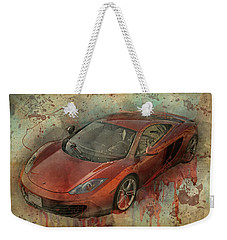Weekender Tote Bag featuring the photograph Mclaren Graffiti by Joel Witmeyer