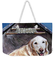Me You Canoe Weekender Tote Bag by Molly Poole