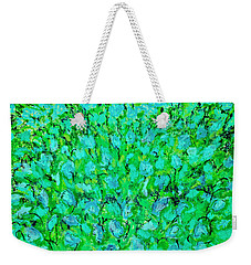 Weekender Tote Bag featuring the painting Meadow Flowers by Linde Townsend
