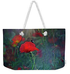 Meadow In Another Dimension Weekender Tote Bag by Agnieszka Mlicka
