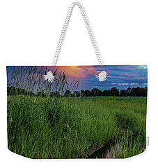 Weekender Tote Bag featuring the photograph Meadow Lark by Kendall McKernon