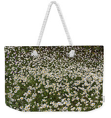 Weekender Tote Bag featuring the photograph Meadow Of Daisey Wildflowers Panorama by James BO Insogna