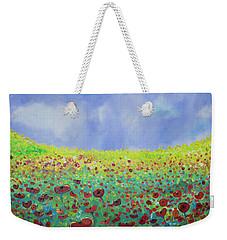 Meadow Of Poppies  Weekender Tote Bag