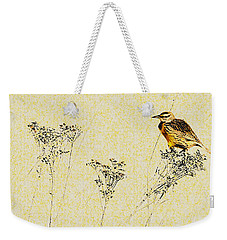 Meadowlark In Kansas Prairie 1 Weekender Tote Bag