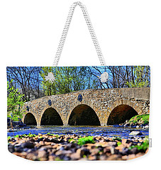 Weekender Tote Bag featuring the photograph Meadows Road Bridge by DJ Florek