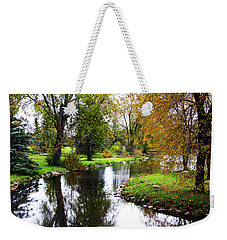 Meandering Creek In Autumn Weekender Tote Bag