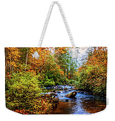 Weekender Tote Bag featuring the photograph Meandering In The Mountains by Debra and Dave Vanderlaan