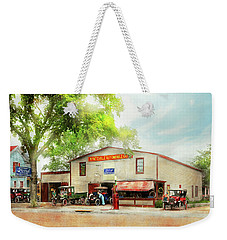 Weekender Tote Bag featuring the photograph Mechanic - All Cars Finely Tuned 1920 by Mike Savad