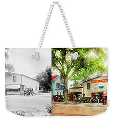 Weekender Tote Bag featuring the photograph Mechanic - All Cars Finely Tuned 1920 - Side By Side by Mike Savad