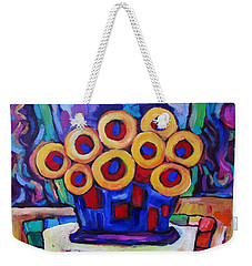 Weekender Tote Bag featuring the painting Medicinal Marigolds by Dianne  Connolly