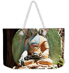 Weekender Tote Bag featuring the photograph Medicine Buddha With Offerings by Carol Lynn Coronios
