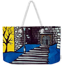 Weekender Tote Bag featuring the painting Medieval Bastion -  Mace Tower Of Buda Castle Hungary By Dora Hathazi Mendes by Dora Hathazi Mendes