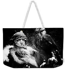 Medieval Fair Barbarian And Golden Eagle Weekender Tote Bag by Bob Christopher