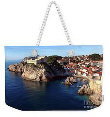 Medieval Fortresses Lovrijenac And Bokar Dubrovnik Weekender Tote Bag by Jasna Dragun