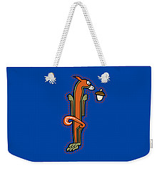 Weekender Tote Bag featuring the digital art Medieval Squirrel Letter I by Donna Huntriss