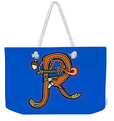 Medieval Squirrel Letter R Weekender Tote Bag