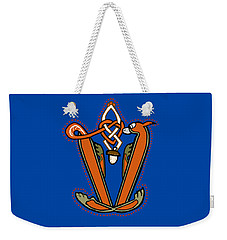 Medieval Squirrel Letter V Weekender Tote Bag
