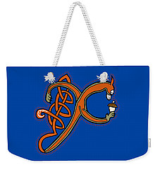 Medieval Squirrel Letter X Weekender Tote Bag