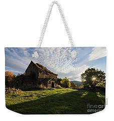 Medieval Tezharuyk Monastery During Amazing Sunrise, Armenia Weekender Tote Bag by Gurgen Bakhshetsyan