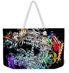 Weekender Tote Bag featuring the digital art Medils Protein by Danica Radman