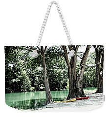 Weekender Tote Bag featuring the photograph Medina River Landscape View by Ella Kaye Dickey