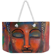 Meditating Buddha With A Blue Lotus Weekender Tote Bag