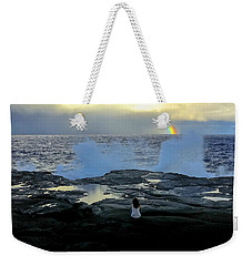 Meditating On A Rainbow Weekender Tote Bag by Venetia Featherstone-Witty