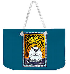 Meditation - Cat Art By Dora Hathazi Mendes Weekender Tote Bag